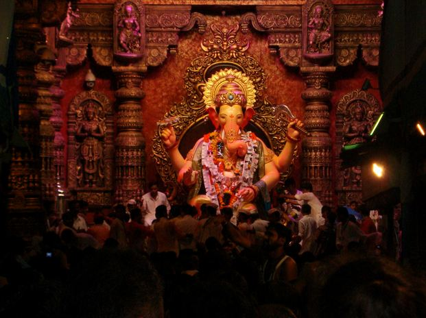 Lalbaugcha Raja Idol with Decorations