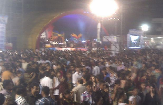 Crowd at Kora Kendra Ground Borivali West