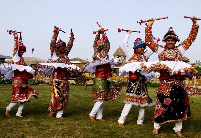 Dandiya Rehearsals at GMDC Grounds Ahmedabad Gujarat