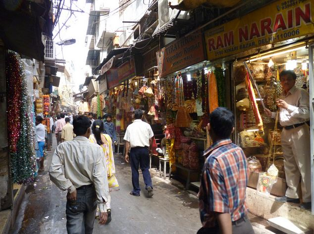 Narrow Lanes of Chandni Chowk in Delhi