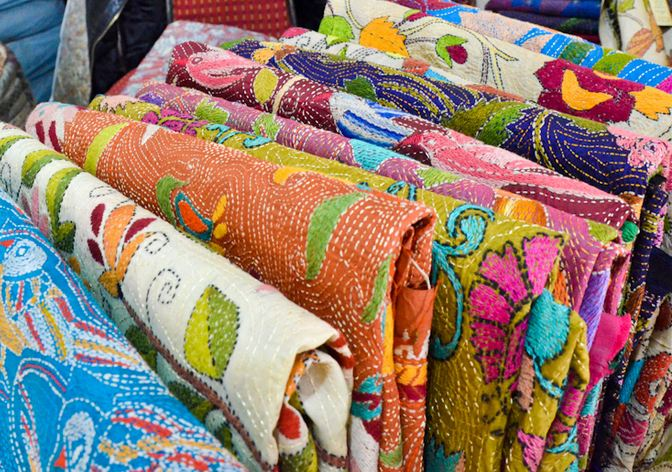 Shopping at Dilli Haat in Delhi