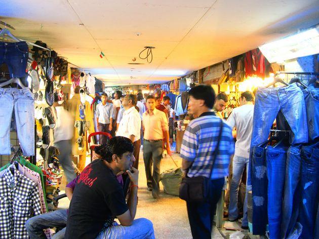 Shopping at Palika Bazaar in Delhi