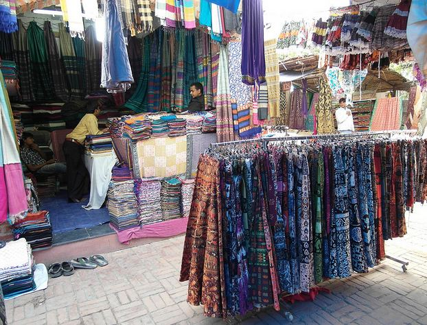 Shopping Clothes at Dilli Haat