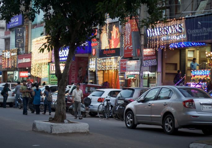 Shopping Street at Lajpat Nagar in Delhi
