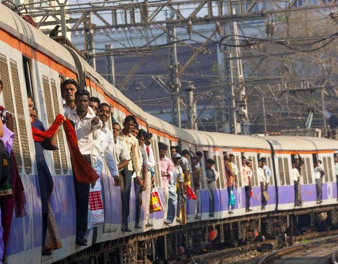Train Rush Hour in Mumbai