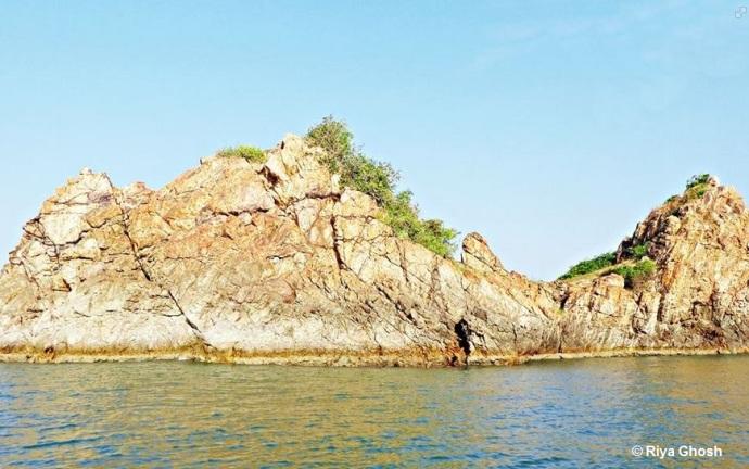 The Golden Sea Rock at Tarkarli Beach