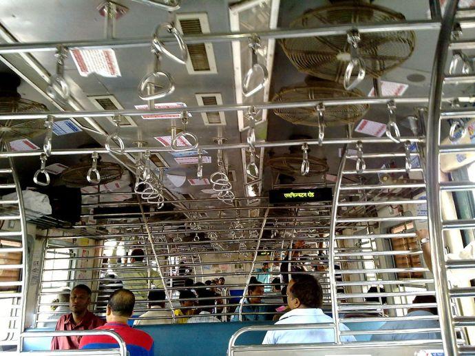 Mumbai Local Train with Passengers