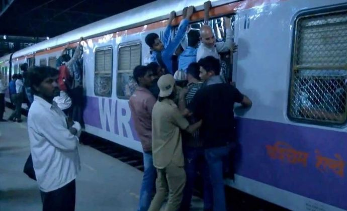 The Rush Hour Scene on Western Railway