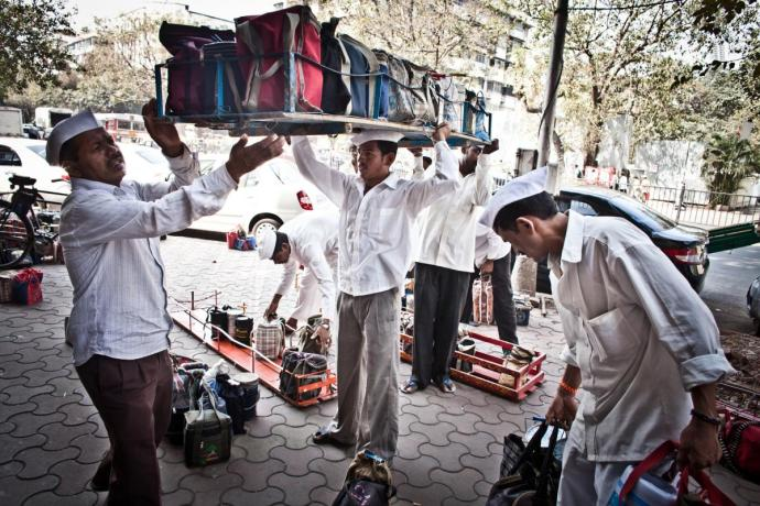 Work Goes on in the Life of Dabbawallah